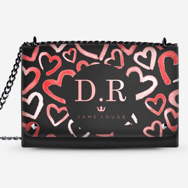 LOVELY BAG HEART ROSE DAME ROUGE