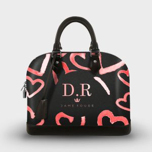 SOUL BAG HEART ROSE DAME ROUGE