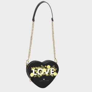 Heart Shape Bag Flower Love Dame Rouge