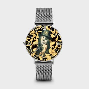 Metal Watch Shut Up Dame Rouge