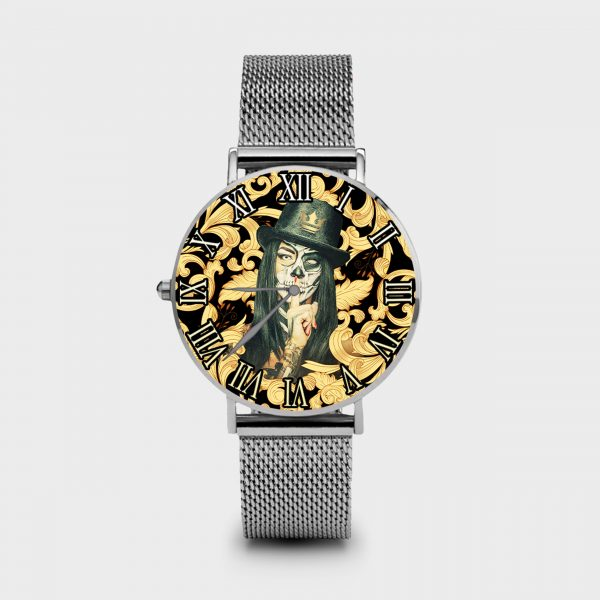 Metal Watch Shut Up Dame Rouge