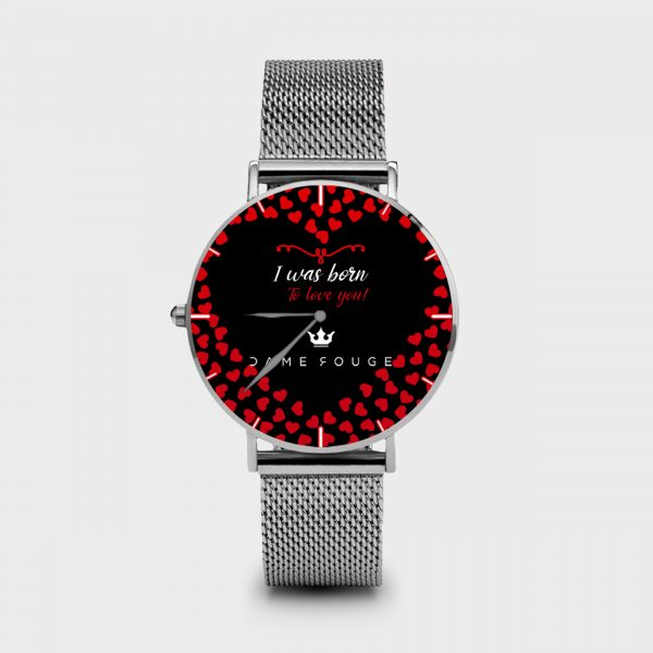 Metal Watch Romance Dame Rouge