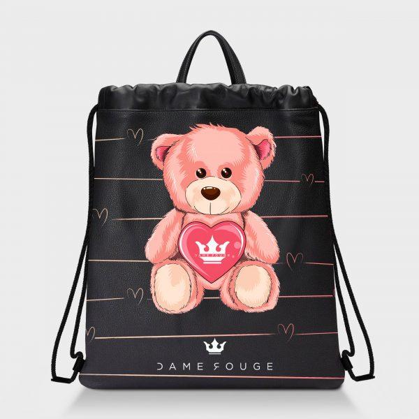 Zaino Squeeze Teddy Bear Dame Rouge
