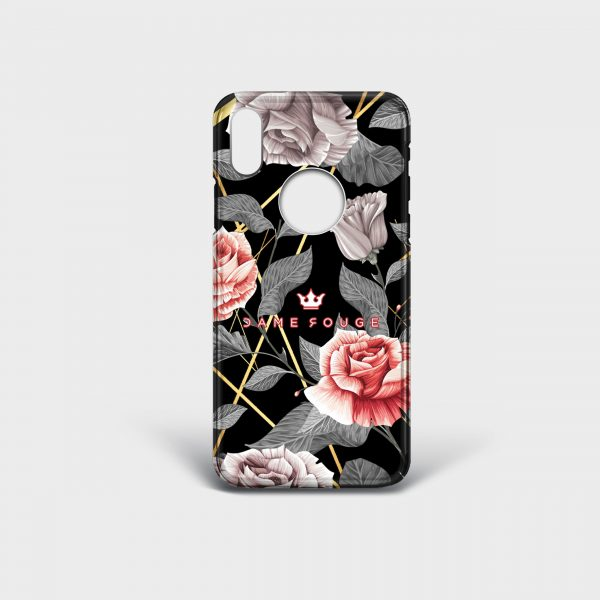 Cover Iphone Vintage Rose Dame Rouge
