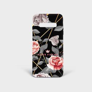 Cover Samsung Vintage Rose Dame Rouge
