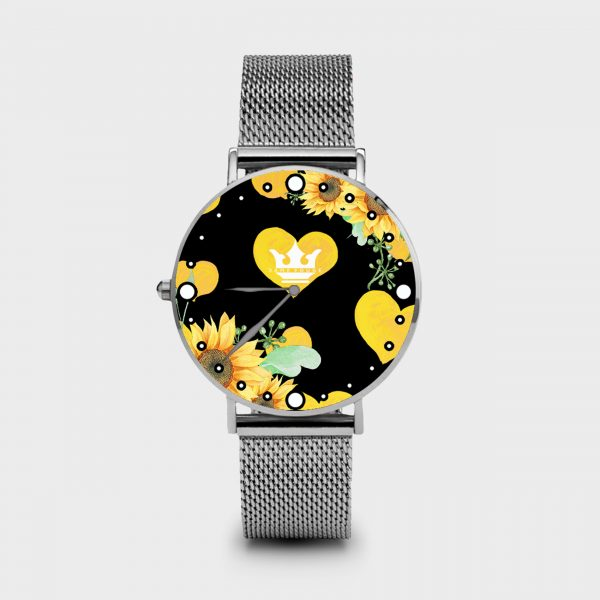 Metal Watch Sunflower Dame Rouge