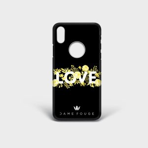 Cover Iphone Flower Love Dame Rouge