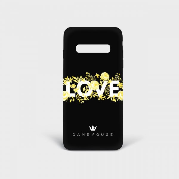 Cover Samsung Flower Love Dame Rouge