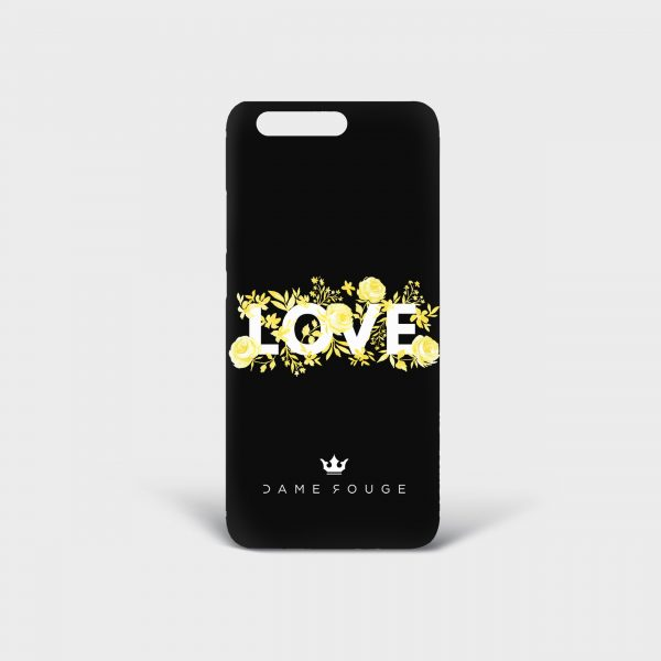 Cover Huawei Flower Love Dame Rouge