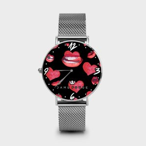 Metal Watch Kiss me Dame Rouge