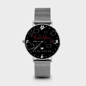 Metal Watch Red Wire Dame Rouge