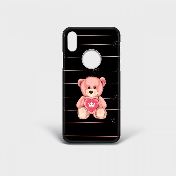 Cover Iphone Teddy Bear Dame Rouge