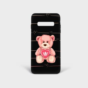 Cover Samsung Teddy Bear Dame Rouge