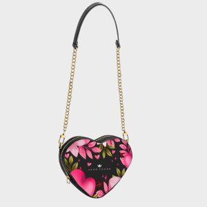 Heart Shape Bag Pink Heart Dame Rouge