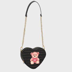Heart Shape Bag Teddy Bear Dame Rouge