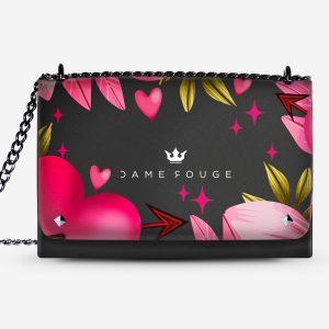 Lovely Bag Pink Heart Dame Rouge
