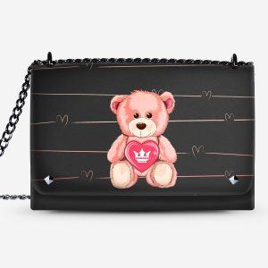 Lovely Bag Teddy Bear Dame Rouge