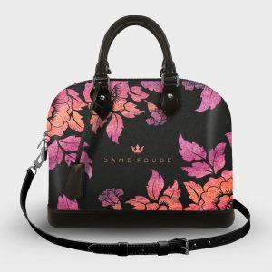 Soul Bag Violet Roses Noir Dame Rouge