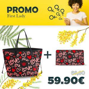 Combo Princess Bag + Portafoglio Red Passion