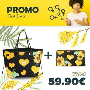 Combo Princess Bag + Portafoglio Sunflower