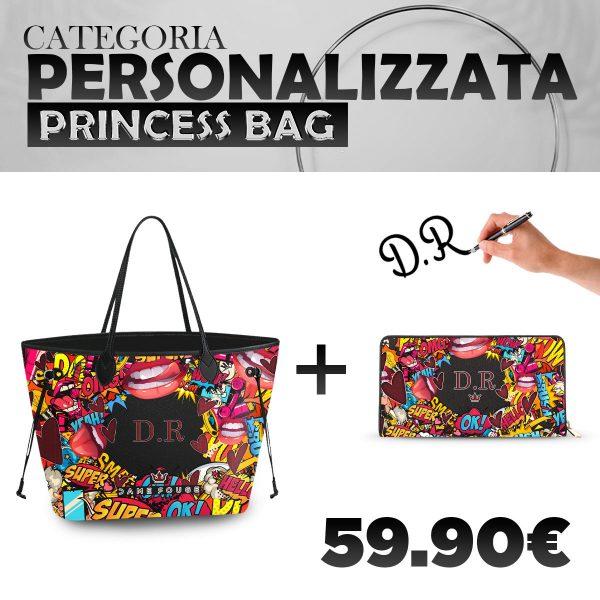 Set Princess Bag + Portafoglio Personalizzato Xoxo