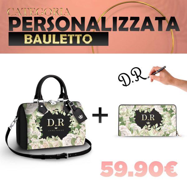 Set Bauletto + Portafoglio Personalizzato White Rose