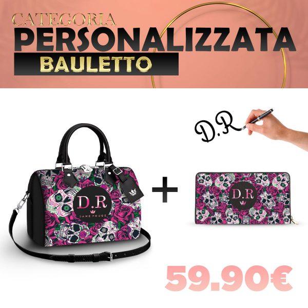 Set Bauletto + Portafoglio Personalizzato Roseskull