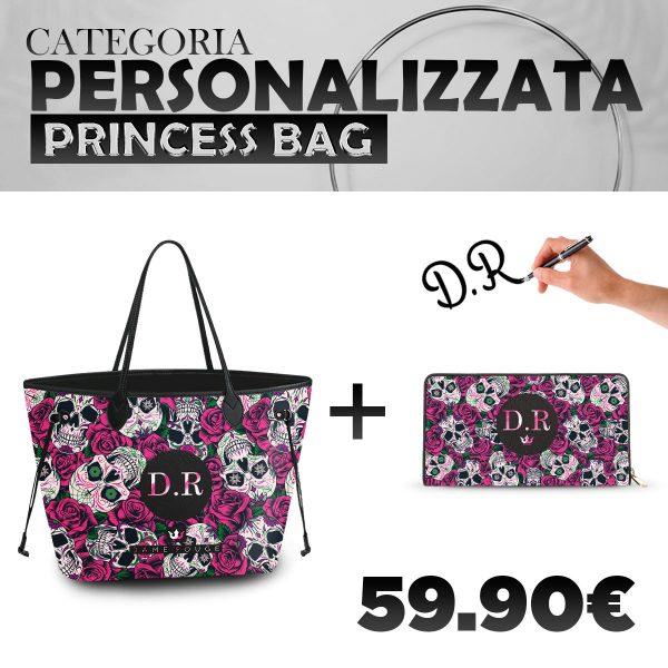 Set Princess Bag + Portafoglio Personalizzato Roseskull