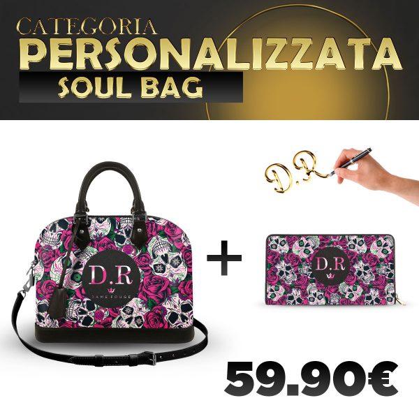 Set Soul Bag + Portafoglio Personalizzato Roseskull