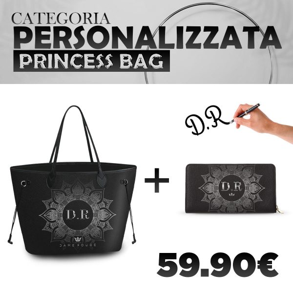 Set Princess Bag + Portafoglio Personalizzato Silver