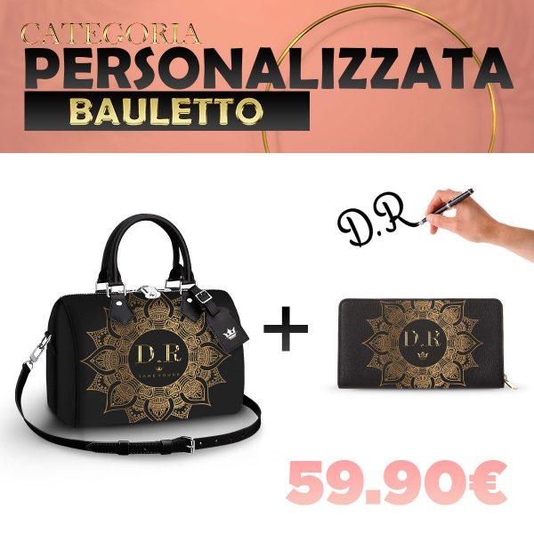 Set Bauletto + Portafoglio Personalizzato Gold