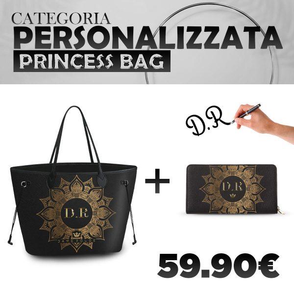 Set Princess Bag + Portafoglio Personalizzato Gold