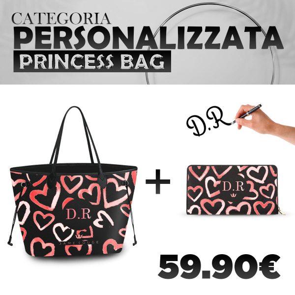 Set Princess Bag + Portafoglio Personalizzato Heart Rose