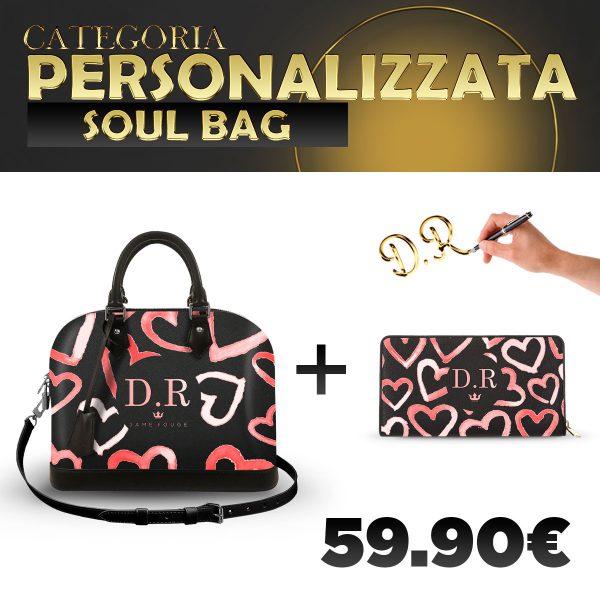 Set Soul Bag + Portafoglio Personalizzato Heart Rose