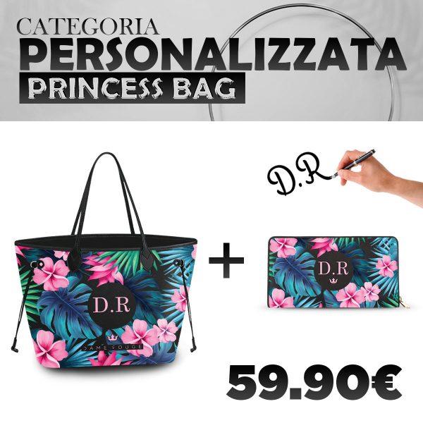 Set Princess Bag + Portafoglio Personalizzato Tropical Noir