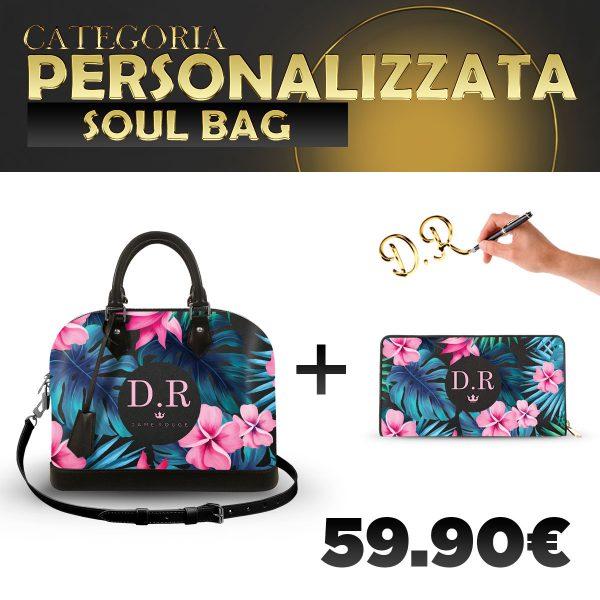 Set Soul Bag + Portafoglio Personalizzato Tropical Noir