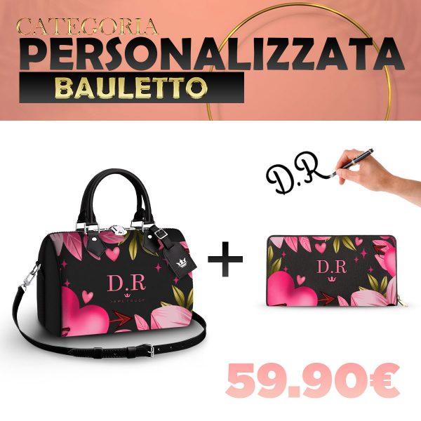 Set Bauletto + Portafoglio Personalizzato Pink Heart