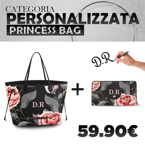 Set Princess Bag + Portafoglio Personalizzato Vintage Rose