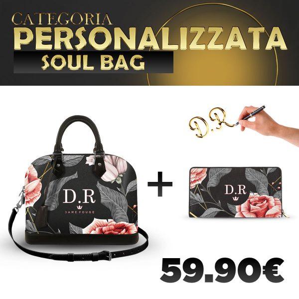 Set Soul Bag + Portafoglio Personalizzato Vintage Rose