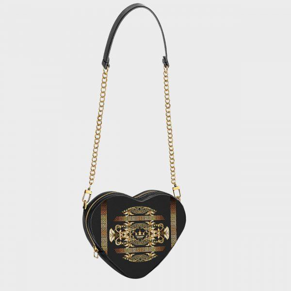 Heart Shape Golden Barocco Dame Rouge