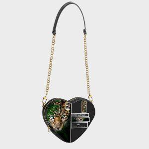 Heart Shape Bag Tiger Mosaic Dame Rouge