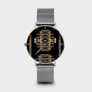Metal Watch Golden Barocco Dame Rouge