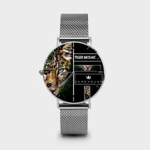 Metal Watch Tiger Mosaic Dame Rouge