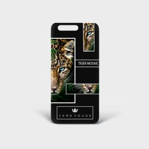 Cover Huawei Tiger Mosaic Dame Rouge