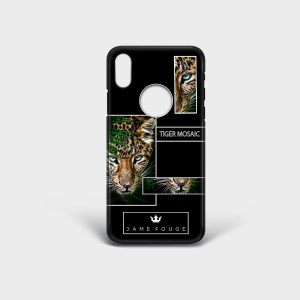 Cover Iphone Tiger Mosaic Dame Rouge