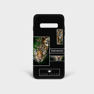 Cover Samsung Tiger Mosaic Dame Rouge