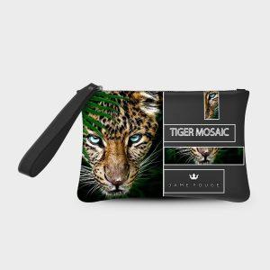 Pochette Smash Tiger Mosaic Dame Rouge