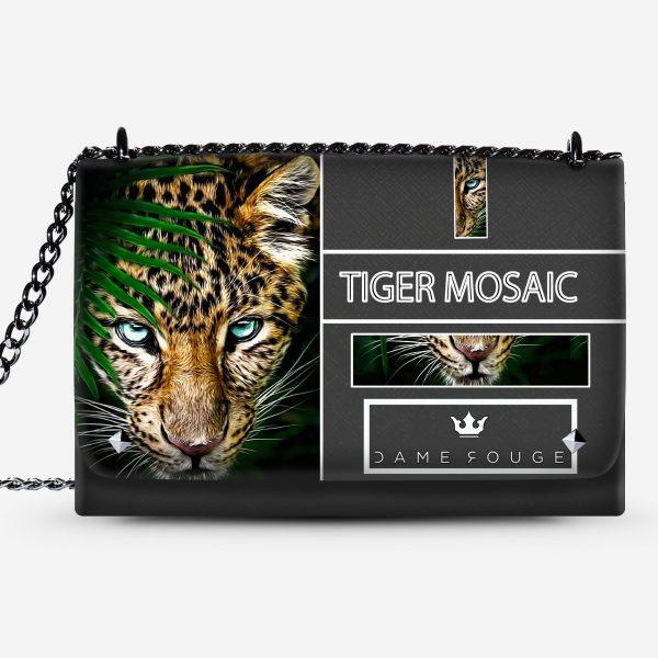 Lovely Bag Tiger Mosaic Dame Rouge