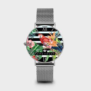 Metal Watch Nature Dame Rouge