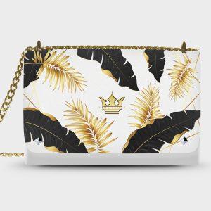 Lovely Bag Golden White Dame Rouge